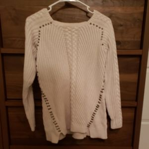 Philosophy White Knitted Sweater